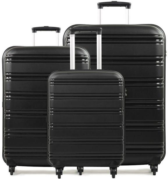 Sada cestovních kufrů ROCK TR-0125/3 PP - černá