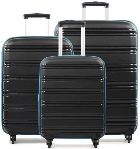 Sada cestovních kufrů ROCK TR-0125/3 PP - černá/modrá