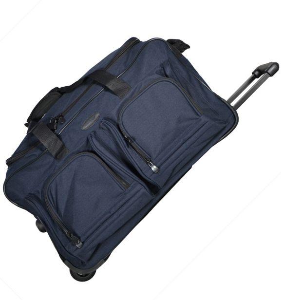 Cestovní taška na kolečkách MEMBER'S TT-0005 - modrá