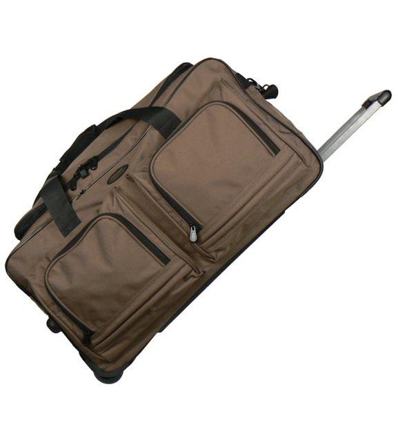 Cestovní taška na kolečkách MEMBER'S TT-0005 - hnědá