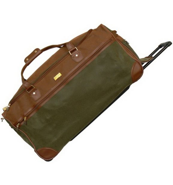 Cestovní taška na kolečkách UNICORN T-1350 - hnědá/khaki - 2. jakost