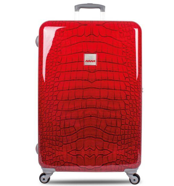 Cestovní kufr SUITSUIT® TR-1210/3-60 - Red Crocodile