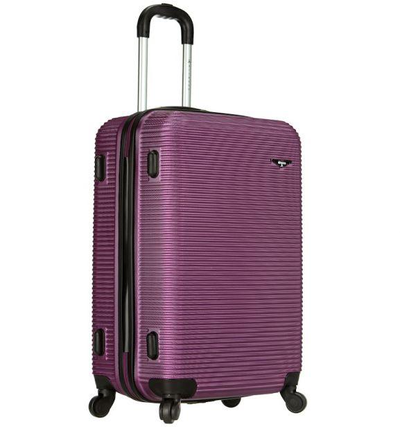 Cestovní kufr SIROCCO T-1039/3-70 ABS - fialová