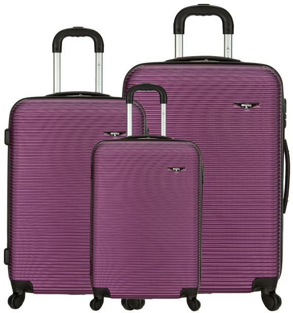 Sada cestovních kufrů SIROCCO T-1039/3 ABS - fialová