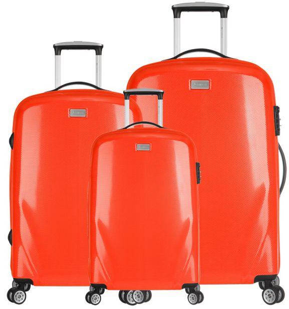 Sada cestovních kufrů SIROCCO T-924/3 PC - oranžová