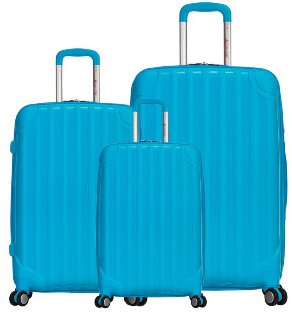 Sada cestovních kufrů AEROLITE T-665/3 PP - aqua