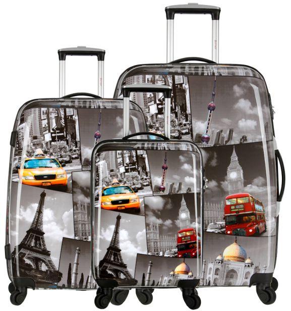 Sada cestovních kufrů CITIES T-535/3 PC - šedá
