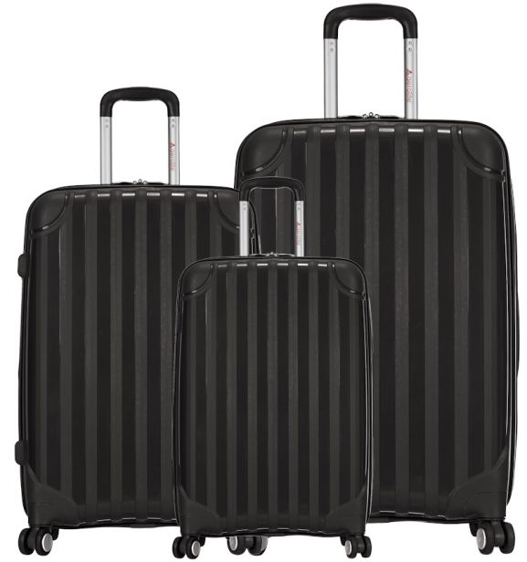 Sada cestovních kufrů AEROLITE T-665/3 PP - černá