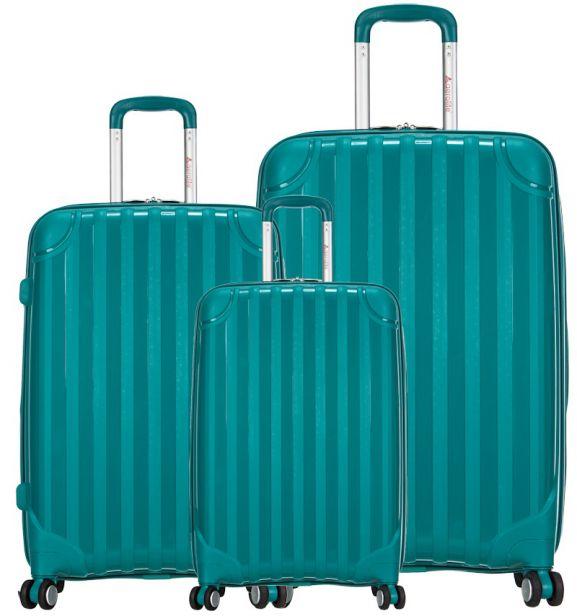 Sada cestovních kufrů AEROLITE T-665/3 PP - zelená