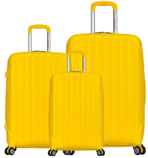 Sada cestovních kufrů AEROLITE T-665/3 PP - žlutá