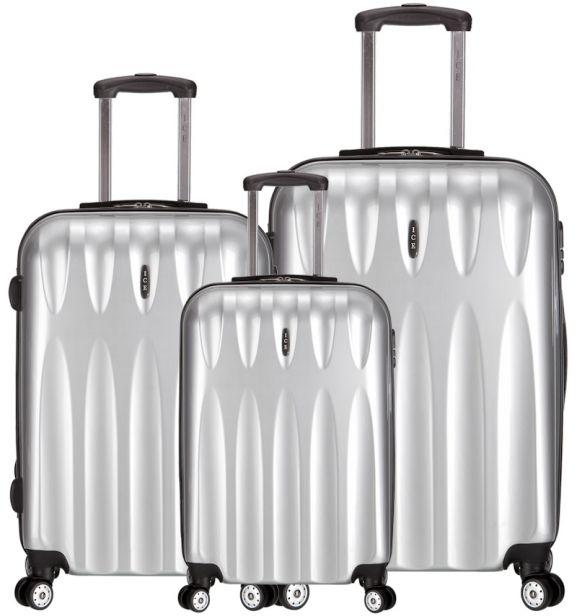 Sada cestovních kufrů ICE T-1063/3 PC - stříbrná