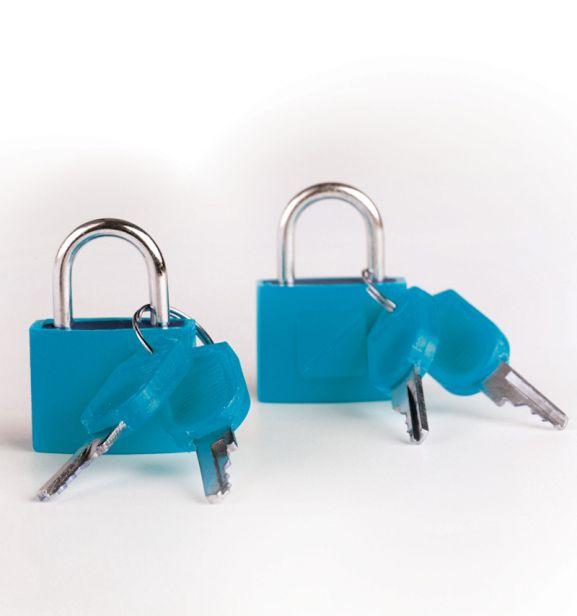 Bezpečnostní zámky na zavazadla TravelBlue 2ks TB024 - modrá