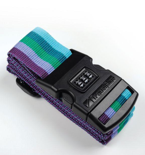 Bezpečnostní popruh na kufr s kódovým zámkem TravelBlue TB047-1 multi-colour