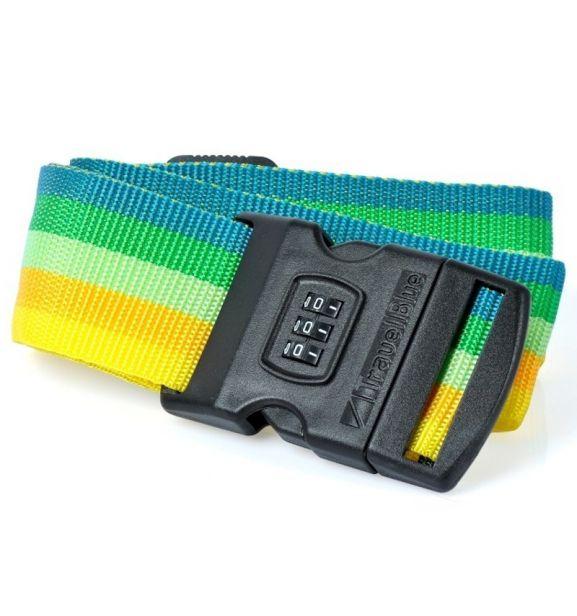 Bezpečnostní popruh na kufr s kódovým zámkem TravelBlue TB047-2 multi-colour