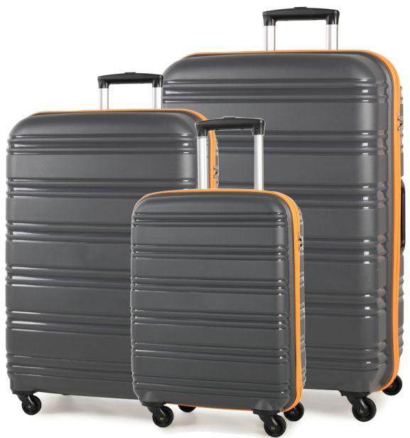 Sada cestovních kufrů ROCK TR-0125/3 PP - šedá