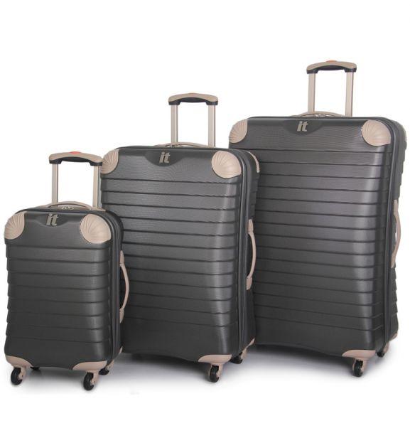 Sada cestovních kufrů IT Luggage TR-1036/3 ABS - charcoal