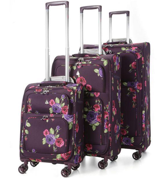 Sada cestovních kufrů AEROLITE T-9978/3 - Floral Damson