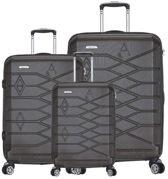 Sada cestovních kufrů AEROLITE T-315/3 ABS - charcoal