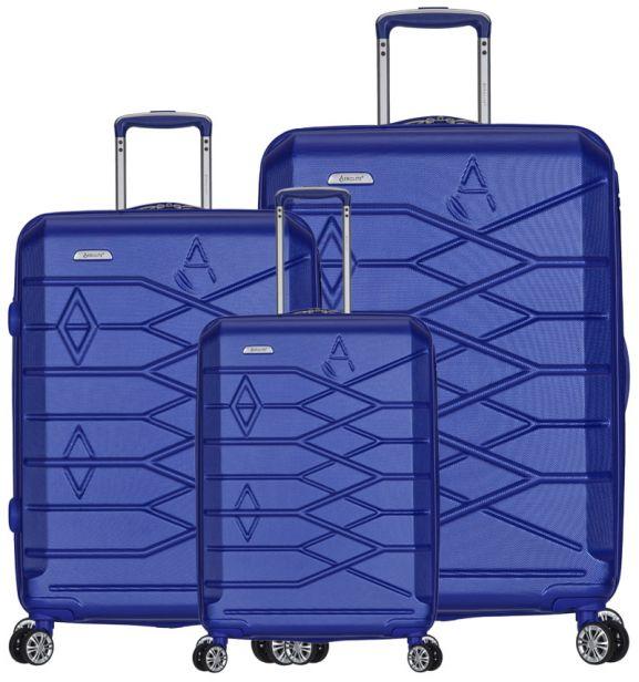 Sada cestovních kufrů AEROLITE T-315/3 ABS - modrá
