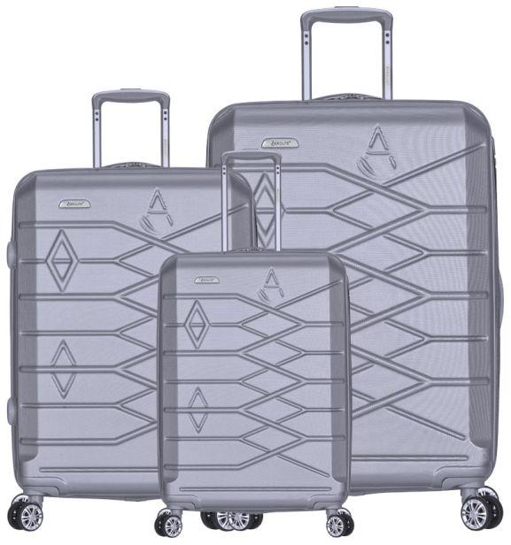 Sada cestovních kufrů AEROLITE T-315/3 ABS - stříbrná