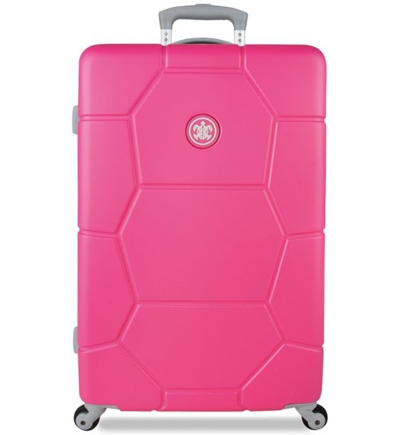 Cestovní kufr SUITSUIT® TR-1227/3-M ABS Caretta Shocking Pink