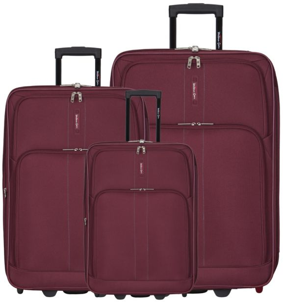 Sada cestovních kufrů Western Gear T-603WG/3 - vínová