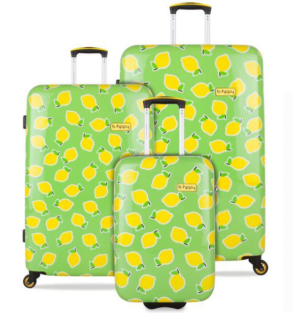 Sada cestovních kufrů B.HPPY BH-1600/3 - Easy Peasy Lemon Squeezy