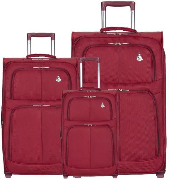 Sada cestovních kufrů AEROLITE T-9613/3 - vínová