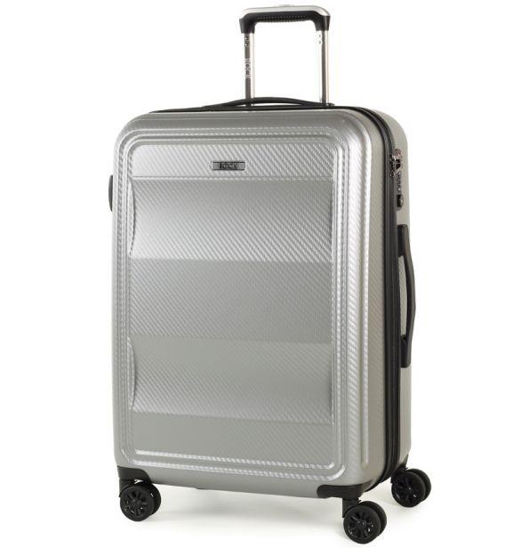 Cestovní kufr ROCK TR-0147/3-M PC - stříbrná