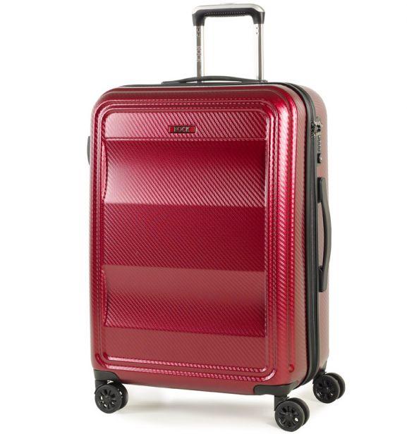 Cestovní kufr ROCK TR-0147/3-M PC - vínová