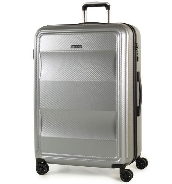 Cestovní kufr ROCK TR-0147/3-L PC - stříbrná