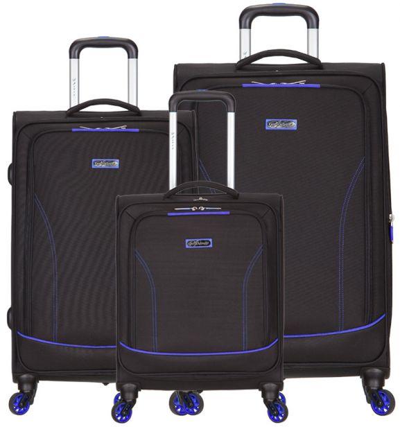 Sada cestovních kufrů SPIRIT T-1115/3 - černá/modrá