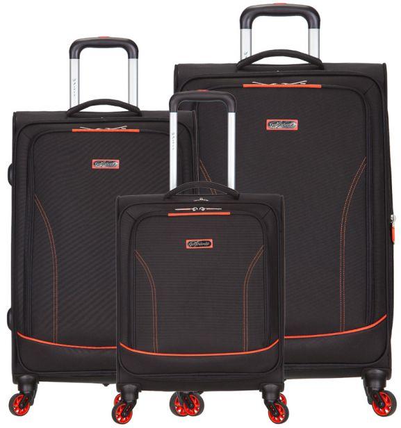 Sada cestovních kufrů SPIRIT T-1115/3 - černá/oranžová
