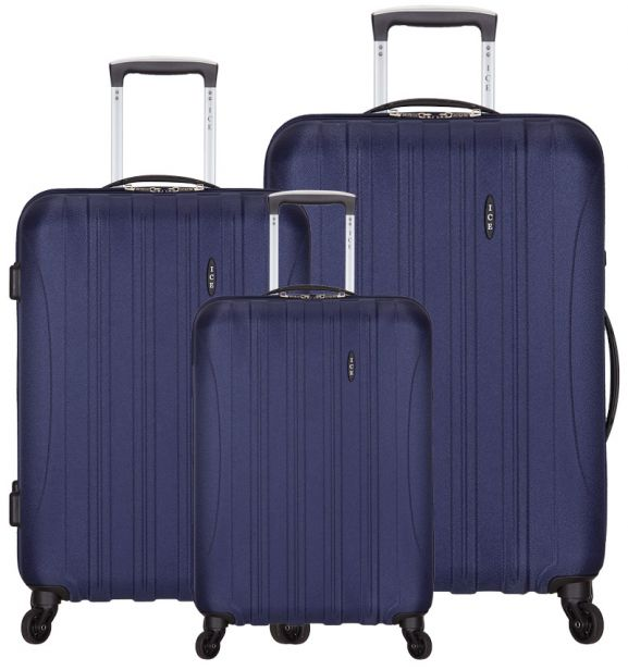 Sada cestovních kufrů ICE T-1109/3 ABS - modrá