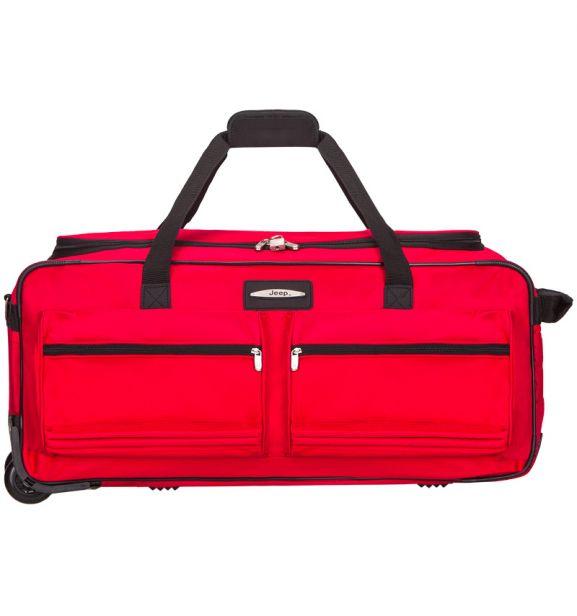 """Cestovní taška na kolečkách JEEP T-555/27"""" - červená"""