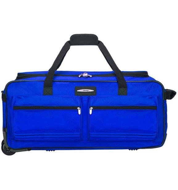 """Cestovní taška na kolečkách JEEP T-555/27"""" - modrá"""