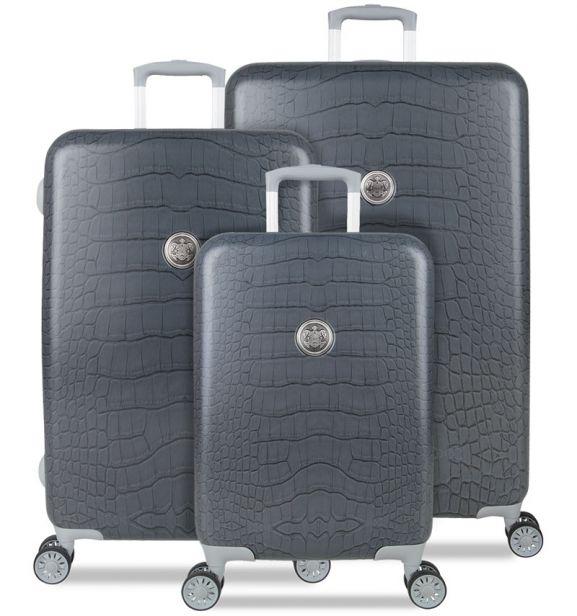 Sada cestovních kufrů SUITSUIT® TR-1238/3 - Grey Diamond Crocodile
