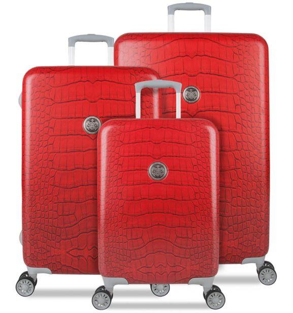 Sada cestovních kufrů SUITSUIT® TR-1239/3 - Red Diamond Crocodile