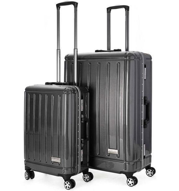 Sada cestovních kufrů AEROLITE T-095/2 AL/PC - černá