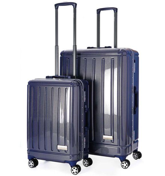Sada cestovních kufrů AEROLITE T-095/2 AL/PC - modrá