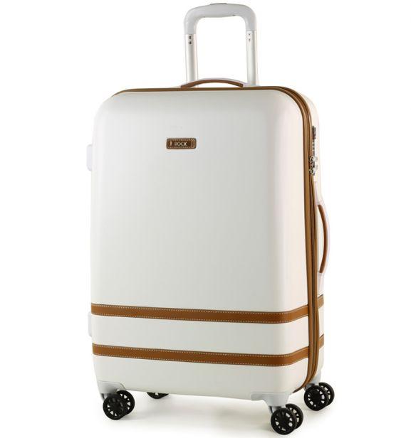 Cestovní kufr ROCK TR-0152/3-M ABS - bílá