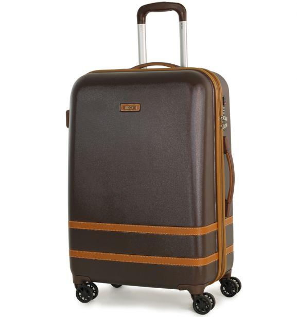 Cestovní kufr ROCK TR-0152/3-M ABS - hnědá