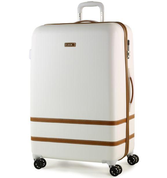 Cestovní kufr ROCK TR-0152/3-L ABS - bílá