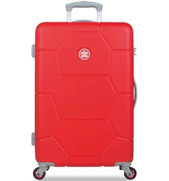Cestovní kufr SUITSUIT® TR-1243/3-M ABS Caretta Fiery Red