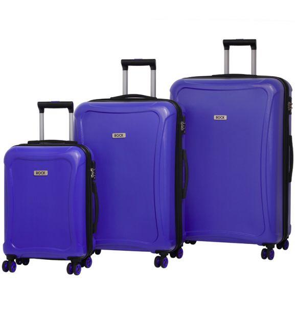 Sada cestovních kufrů ROCK TR-0158/3 DUR - modrá