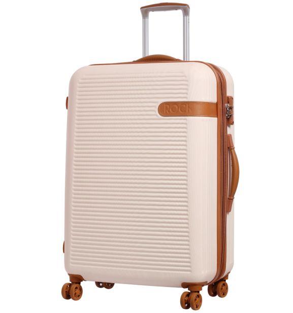 Cestovní kufr ROCK TR-0159/3-L ABS - krémová