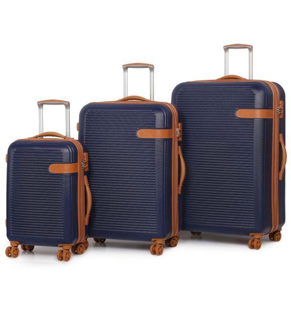 Sada cestovních kufrů ROCK TR-0159/3 ABS - modrá