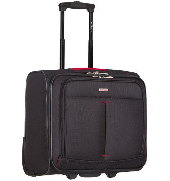 Kufr příruční na notebook Sirocco T-1103 - černá/červená