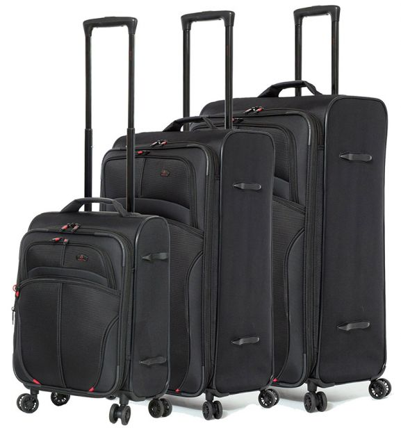 Sada cestovních kufrů AEROLITE T-9378/3 - černá
